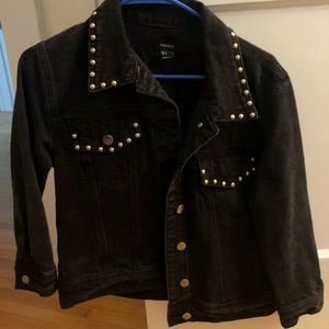 Black Forever 21 denim jean jacket